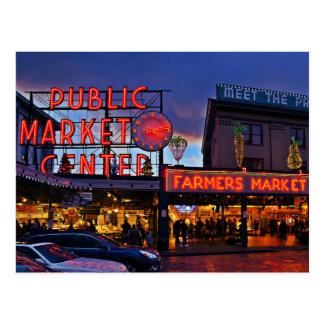 Postcard/Postcard Pike PlaceMarket, Seattle Postcard