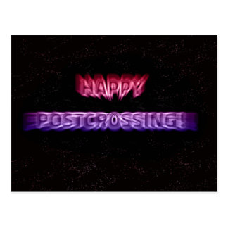 "Postcard ""Postcrossing Space Effect"""