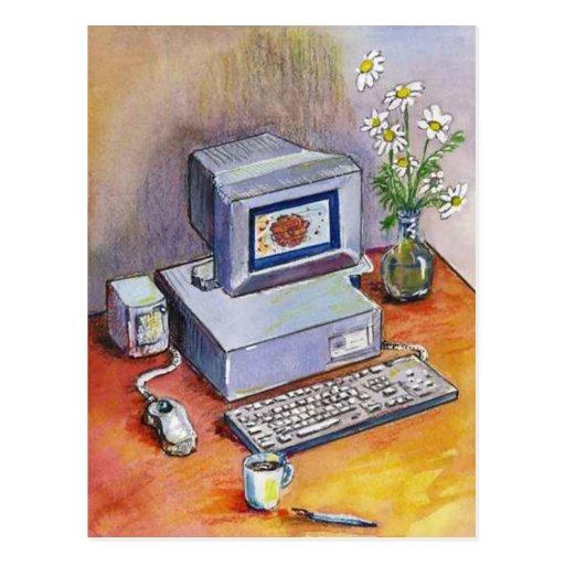 POSTCARD PROMO ~ COMPUTER BUSINESS REPAIR BUILD +