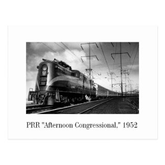"Postcard - PRR ""Afternoon Congressional,"" 1952"