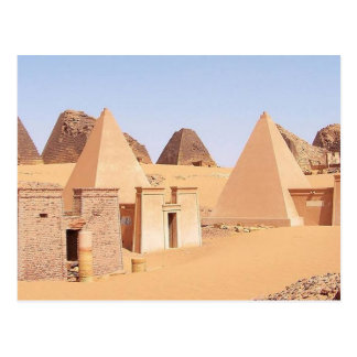 Postcard Pyramids off Meroe in Sudan