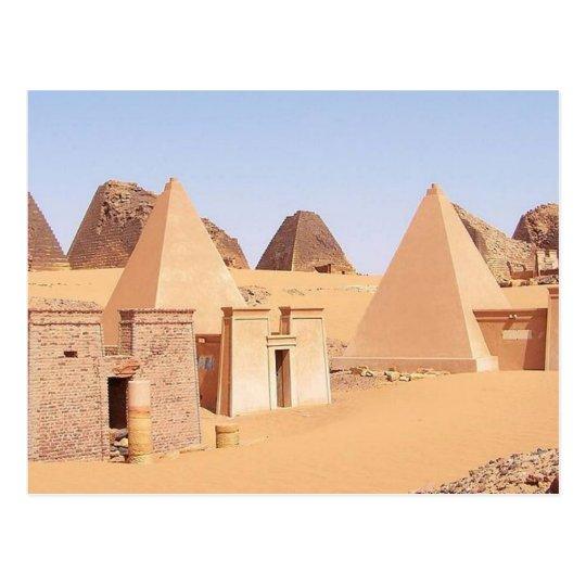 Postcard Pyramids off Meroe in Sudan