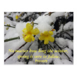 Postcard Quotes & Sayings Proverb Winter Spring
