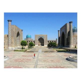 Postcard Registan places in Samarkand, Uzbekistan