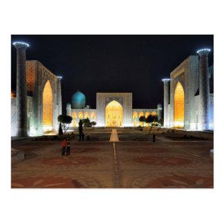 Postcard Registan, Samarkand, Uzbekistan