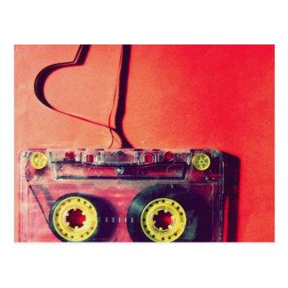 postcard,retro,cassette,love,heart postcard