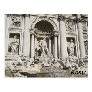 postcard Rome Italy Trevi Fountain