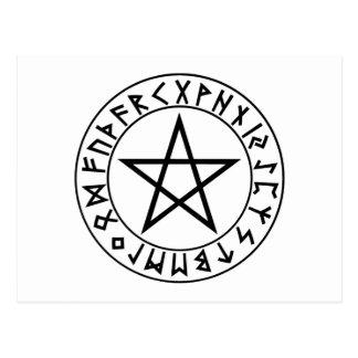 postcard Rune Pentacle