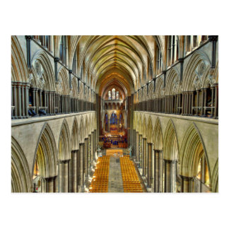 Postcard Salisbury Cathedral Interior