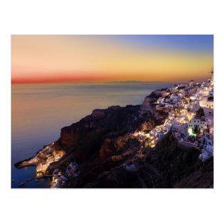 Postcard Santorini Island, Greece