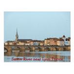 POSTCARD - Saone River near Lyon France