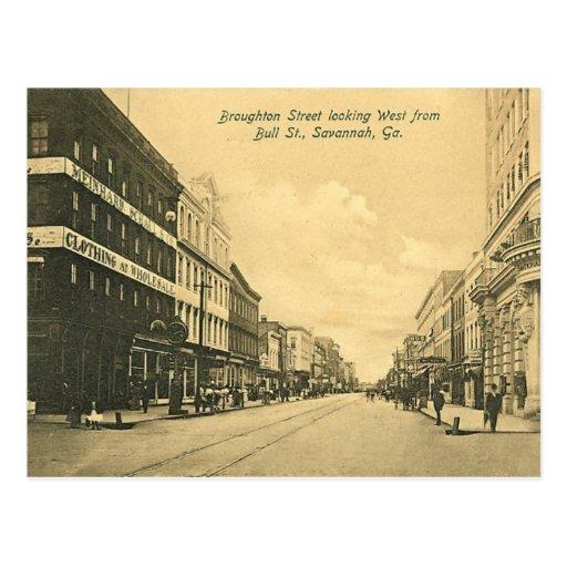 Postcard, Savannah, Georgia, USA