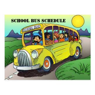 POSTCARD SCHOOL BUS ROUTE SCHEDULE PARENT REMINDER