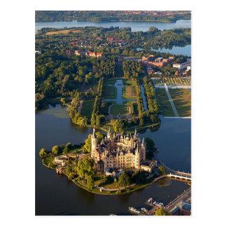 Postcard Schwerin Castle (island), Germany