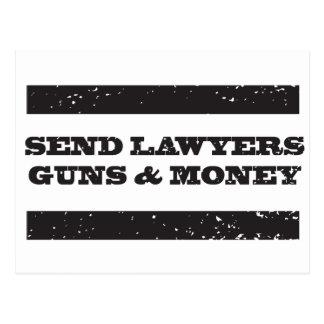 Postcard - Send Lawyers Guns and Money