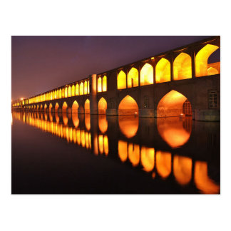 Postcard Siosepol (Bridge off 33 Arch) Isfahan
