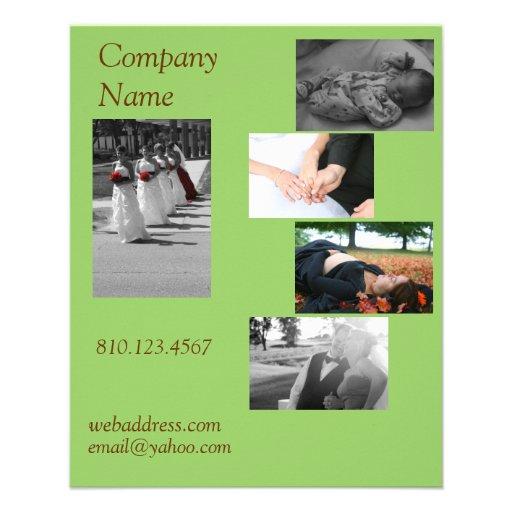 Postcard Size Business Card Flyer Design