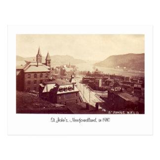 Postcard, St John's, Newfoundland, in 1910