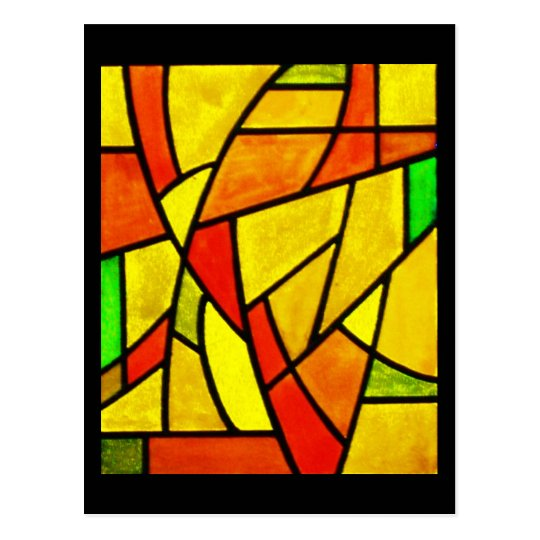 Postcard-Stained Glass-10 Postcard