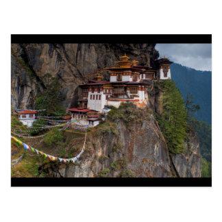 Postcard Taktsang Monastery Tiger´s nest in Bhutan