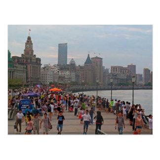 Postcard The Bund from Huangpu To rivet, Shanghai