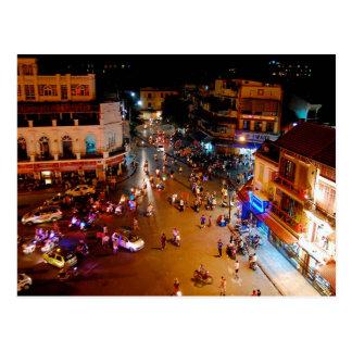 Postcard The Busy Hanoi Streets, Vietnam