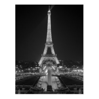 Postcard The Eiffel Tower in Black And White Paris