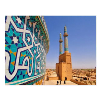 Postcard The Jāmeh Mosque off Yazd _Iran