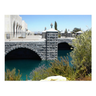 Postcard: The Moat at Eagle Castle,  Paso Robles,