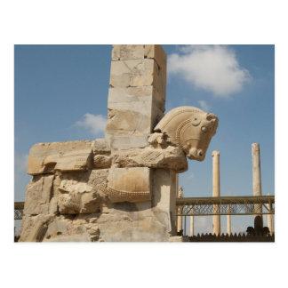 Postcard The Ruins off Persepolis Closed-up, Iran