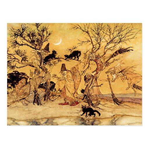 Postcard:  The Witches Sabbath - Halloween Art