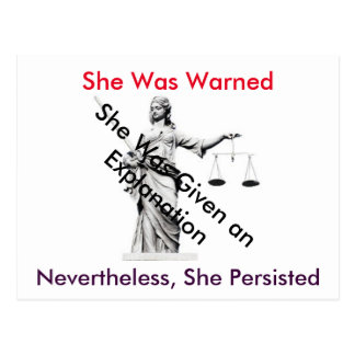 Postcard to the White House  Lady Justice