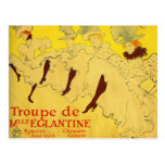 Postcard:  Toulouse-Lautrec - Dance Troupe Postcard