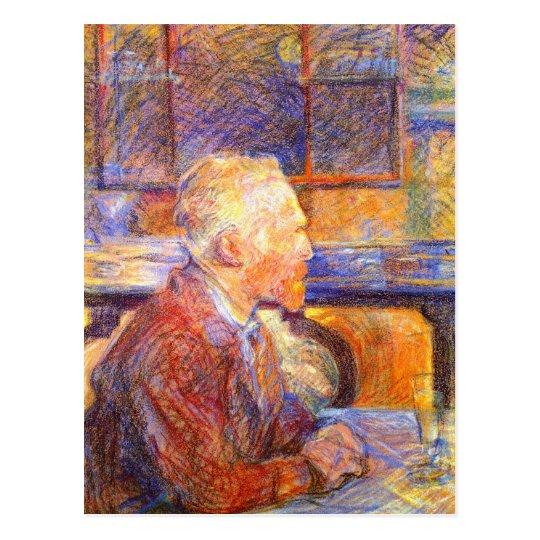 Postcard: Toulouse-Lautrec Portrait of Van Gogh Postcard