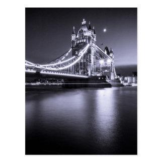 Postcard Tower Bridge At night, London, the U.K.