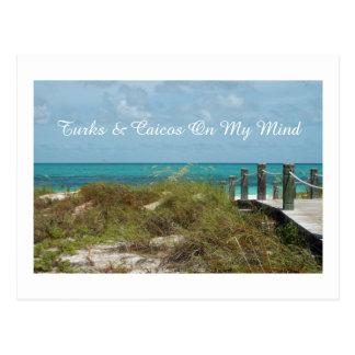 postcard/TURKS AND CAICOS ON MY MIND/SEASCAPE Postcard