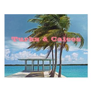 postcard, TURKS & CAICOS ISLANDS/PALM TREE, PIER, Postcard
