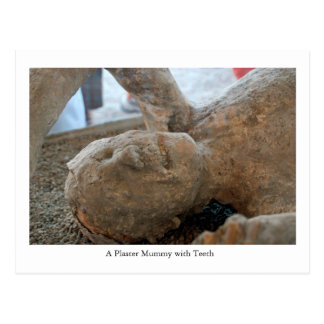 Postcard, UNESCO Mummy, Pompeii, Italy Teeth Postcard