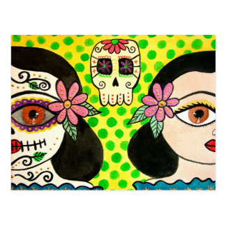 "Postcard ""Vida-Muerte"" day of the dead"