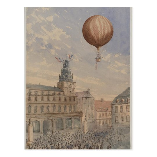 Postcard-Vintage Art-Hot Air Balloons 15 Postcard