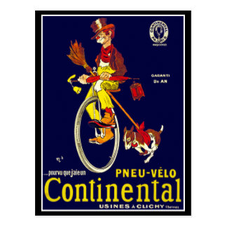 Postcard: Vintage Bicycle Ad:  Continental Postcard