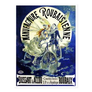 Postcard: Vintage Cycles: Roubaisien Postcard