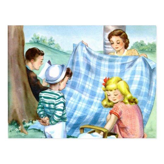 Postcard-Vintage Family Picnic Postcard