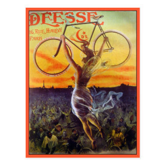 Postcard: Vintage French Bicycle Art Postcard