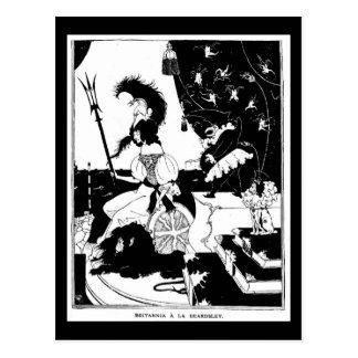 Postcard-Vintage Illustration-Aubrey Beardsley 17 Postcard
