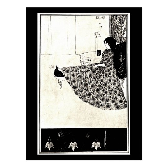 Postcard-Vintage Illustration-Aubrey Beardsley 45 Postcard