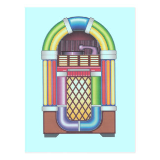 Postcard Vintage Jukebox Retro Party Invitations