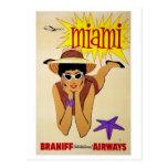 Postcard-Vintage Miami