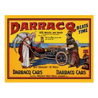 Postcard: Vintage Race Car: Darracq Cars Postcard
