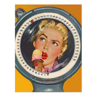 Postcard Vintage Retro ice cream cone Fun Party PC